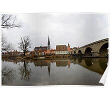 View over Regensburg  Poster