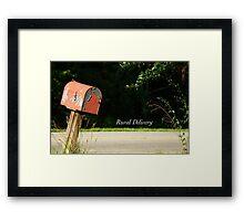 Rural Delivery Framed Print