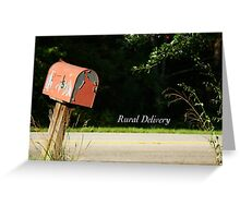 Rural Delivery Greeting Card