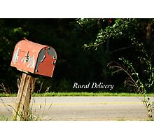 Rural Delivery Photographic Print