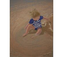 Making Puddles - Pastel Painting Photographic Print