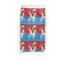 J is for Jack Russell Duvet Cover