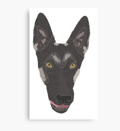 color dog dog Canvas Print