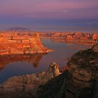 Lake Powell at Dusk by Dick Paige