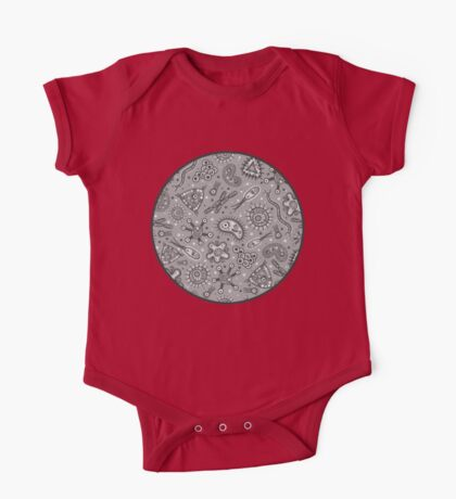 Microbes - Grey / Gray One Piece - Short Sleeve