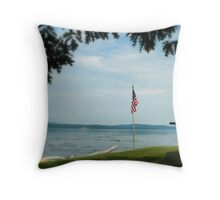 From Sea to Shining Sea Throw Pillow