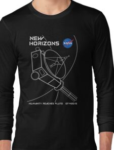 New Horizons -- Humanity Reaches Pluto 07142015 Long Sleeve T-Shirt