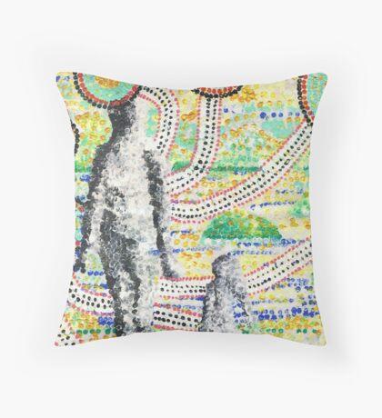 Aborigine and Child Throw Pillow