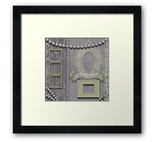 Pink lace and frames Framed Print