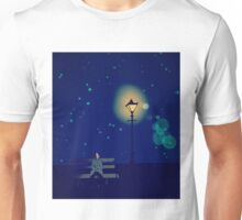 Lonely Man under the Lonely Light Unisex T-Shirt