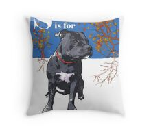 S is for Staffie Throw Pillow