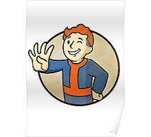 Fallout 4 - Redhead vault boy  Poster