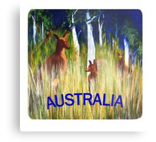 Roos in the Grass  Metal Print