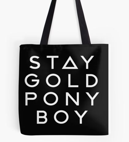 PONY BOY 'STAY GOLD' Tote Bag