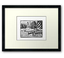 HUNGRY CROCODILE Framed Print