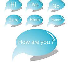Blue text bubbles by Laschon Robert Paul