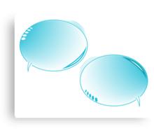 Blue text bubbles Canvas Print