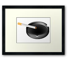 ashtray and cigarette Framed Print