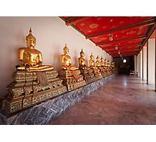 Golden Buddha Statues Photographic Print