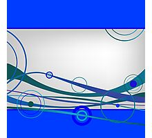 Blue waves and circles Photographic Print