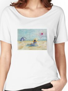 Young girl and sea III Women's Relaxed Fit T-Shirt