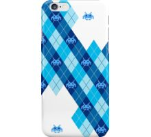 Space Intruders Argyle Pattern iPhone Case/Skin