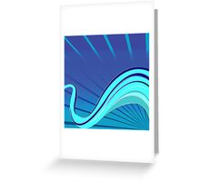 Blue waves vector Greeting Card
