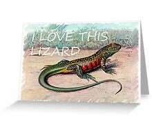 The Whistling lizard  Greeting Card