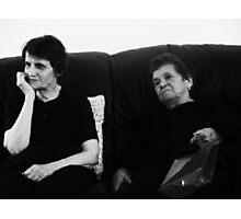 Two Grandmas Photographic Print