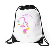 sparkling watercolur Drawstring Bag