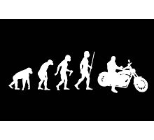 Funny Motorcycle Evolution Shirt Photographic Print