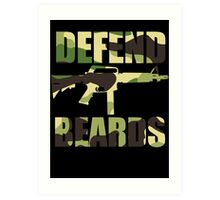 DEFEND BEARDS Art Print
