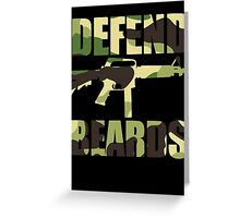 DEFEND BEARDS Greeting Card
