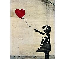 Banksy's Girl with a Red Balloon III Photographic Print