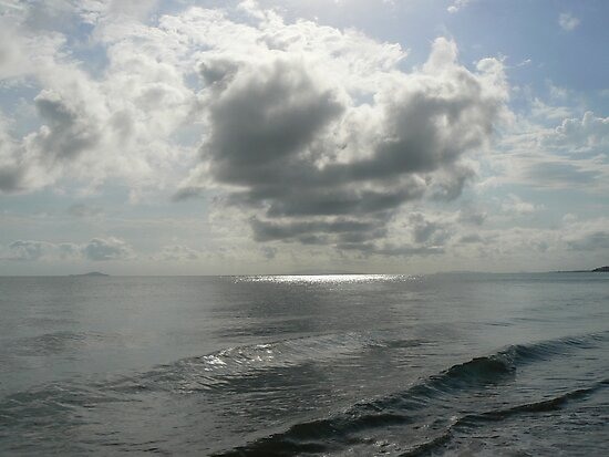 Rain Clouds over the Coral Sea by Rebecca Holman