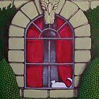 Alabaster Gothic Window Garden  by Donna Huntriss
