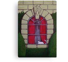 Alabaster Gothic Window Garden  Canvas Print