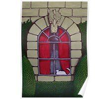 Alabaster Gothic Window Garden  Poster