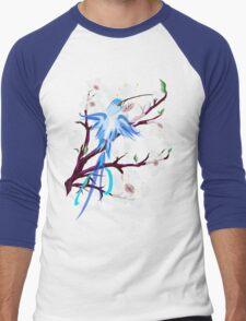 Bird and Cherry Blossoms Men's Baseball ¾ T-Shirt