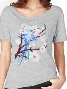 Bird and Cherry Blossoms Women's Relaxed Fit T-Shirt
