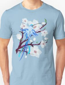 Bird and Cherry Blossoms Unisex T-Shirt