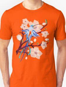 Bird and Cherry Blossoms Unisex T-Shirt
