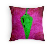 PEPPER! GREEN! SPICY! BURNY! Throw Pillow