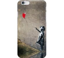 Banksy's Girl with a Red Balloon II iPhone Case/Skin