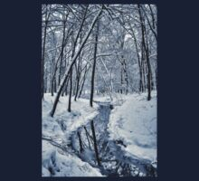 River in the winter forest Kids Clothes