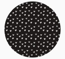 Inked Hearts Pattern One Piece - Short Sleeve
