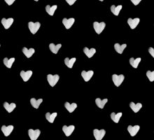 Inked Hearts Pattern Sticker