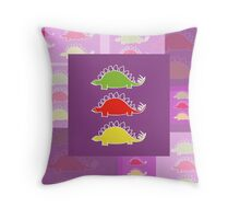 BEHOLD ...  THE DEADLY STEGOSAURUS RAMPAGE Throw Pillow