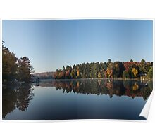 Lakeside Cottage Living - Peaceful Morning Mirror Poster