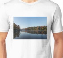Lakeside Cottage Living - Peaceful Morning Mirror Unisex T-Shirt